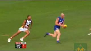 Barry Hall's first Goal for the Western Bulldogs (HQ)