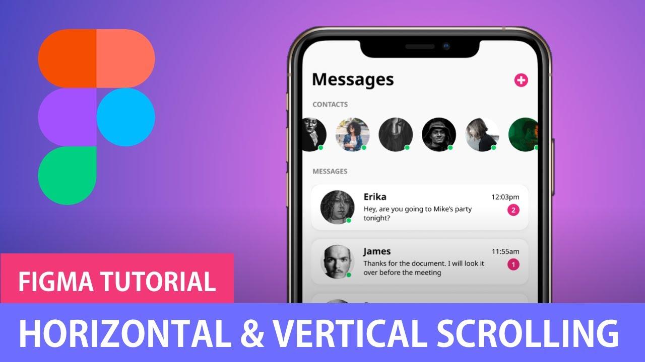 Download Horizontal & Vertical Scrolling   Figma Tutorial