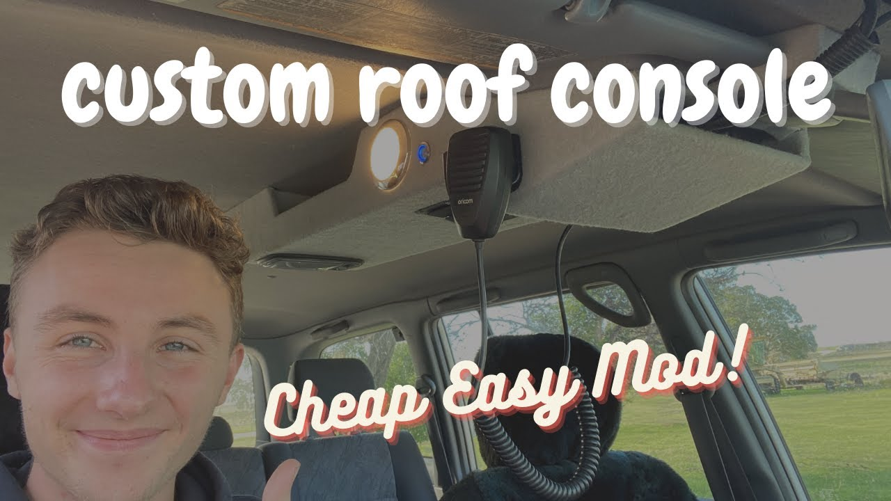 CUSTOM Roof Consoles are Cheap and Easy! [105 series Landcruiser]