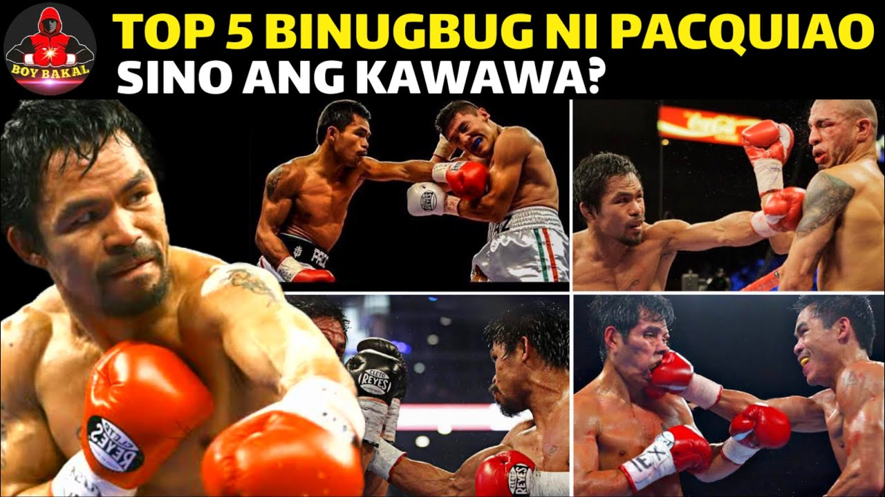 Manny Pacquiao TOP 5 Champion Na Binugbog Sa Laban