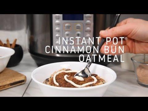 Instant Pot Cinnamon Bun Oatmeal