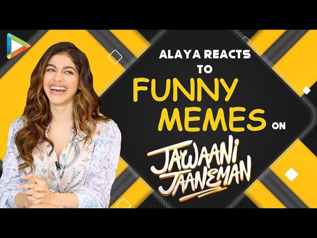 LOL- Alaya REACTS to 'Sara-Taimur' MEME on Jawaani Jaaneman Trailer   Saif Ali Khan   Tabu