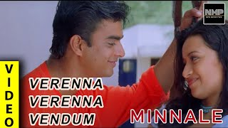 Verenna Verenna Vendum Video | Minnale  I Madhavan | Abbas I Reemma Sen | Harris Jayaraj