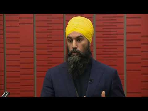 NDP Leader Jagmeet Singh responds to Trudeau carbon tax rebate plan