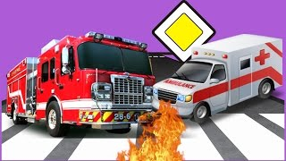 Мультики Машинки для Детей #Пожарная Машина #Скорая Помощь Машины Помощники Мультфильмы 2018 года