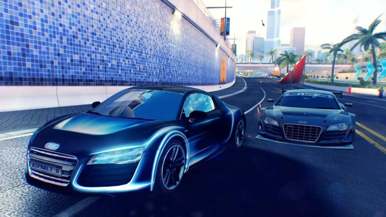 Asphalt 8 Audi R8 e-tron vs Audi R8 LMS Ultra 32 Racers Dubai (Race Suggestion #48) - YouTube