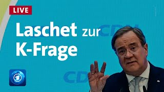 Machtkampf um kanzlerkandidatur: cdu-chef armin laschet will die kanzlerkandidat der union werden - csu-chef markus söder es auch. das cdu-präsidium hat...