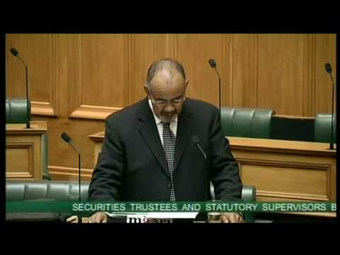 Securities Trustees and Statutory Supervisors Bill - First R