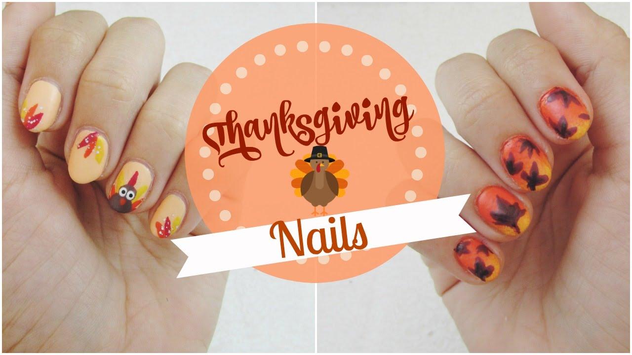Diseño de uñas con motivo de Acción de Gracias/Thanksgiving ...