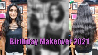 Birthday Makeover 2021   Very Long to Very Short Haircut At Lucky The Hair Salon   Surprise Haircut