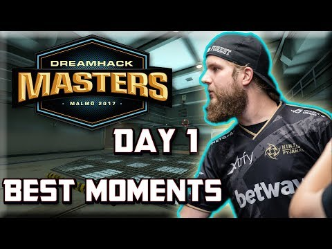 1.6 f0rest IS BACK! DreamHack Masters Malmö 2017 Day 1 Highlights (Best Moments, Clutches)