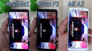 Poco F1 Vs Mi A2 Vs RealMe 1 Comparision !! Speed Comparision ,HINDI