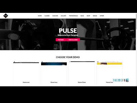 Pulse - html template for gym, fitness, yoga, crossfit and sport webs