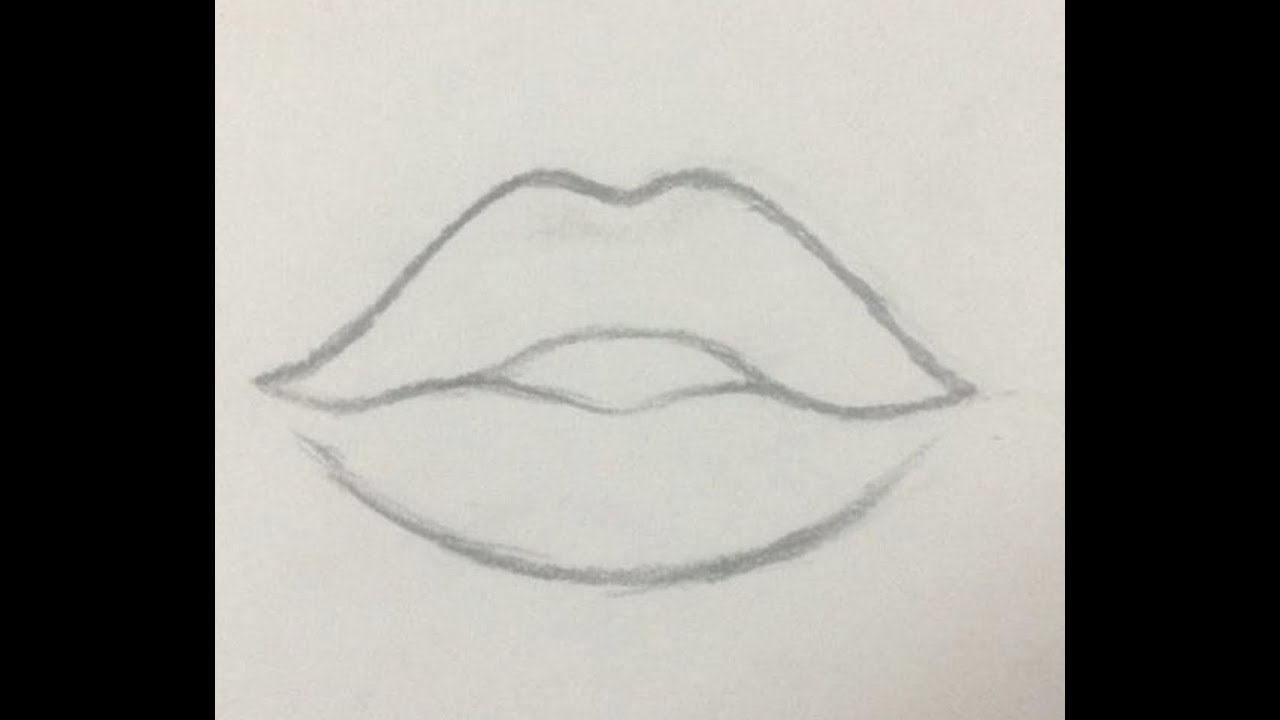 HOW TO DRAW A BEAUTIFUL LIP PENCIL SKETCH. EASY DRAWING ...