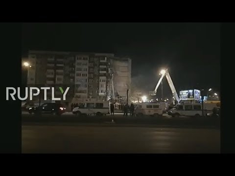 LIVE: Residential building collapse in Russia's Izhevsk, people reportedly trapped