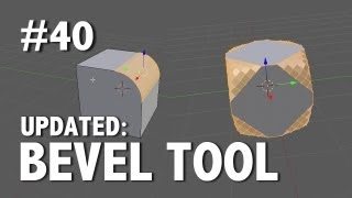 Blender 2.6 Tutorial 40 - Bevel Tool (Updated)