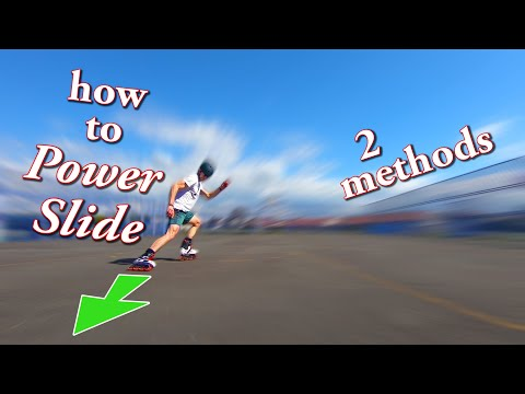 Download how to Power Slide on inline skates - how to slide to a stop