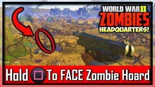 COD WW2 Hidden Zombies Easter Eggs In Headquarters! (Call of Duty WW2 Headquarters Easter Egg Secret