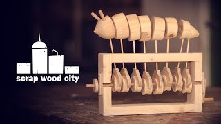 How To Make A Mechanical Worm Toy, Out Of Wood