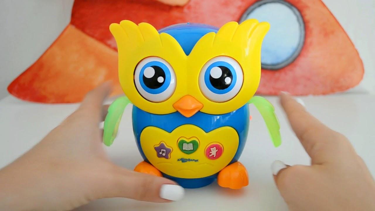 Музыкальная сова для малышей светится и танцует - YouTube