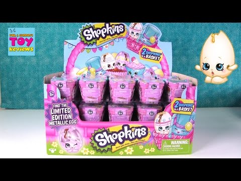 Surprise Easter Basket Shopkins Limited Edition Metallic Googy Hunt Opening | PSToyReviews
