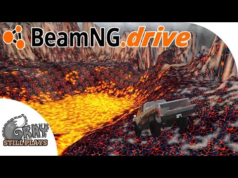 DRIVING INTO A VOLCANO - Epic Crashes on the Molten Map Sky Roads - BeamNG.Drive Gameplay Highlights |