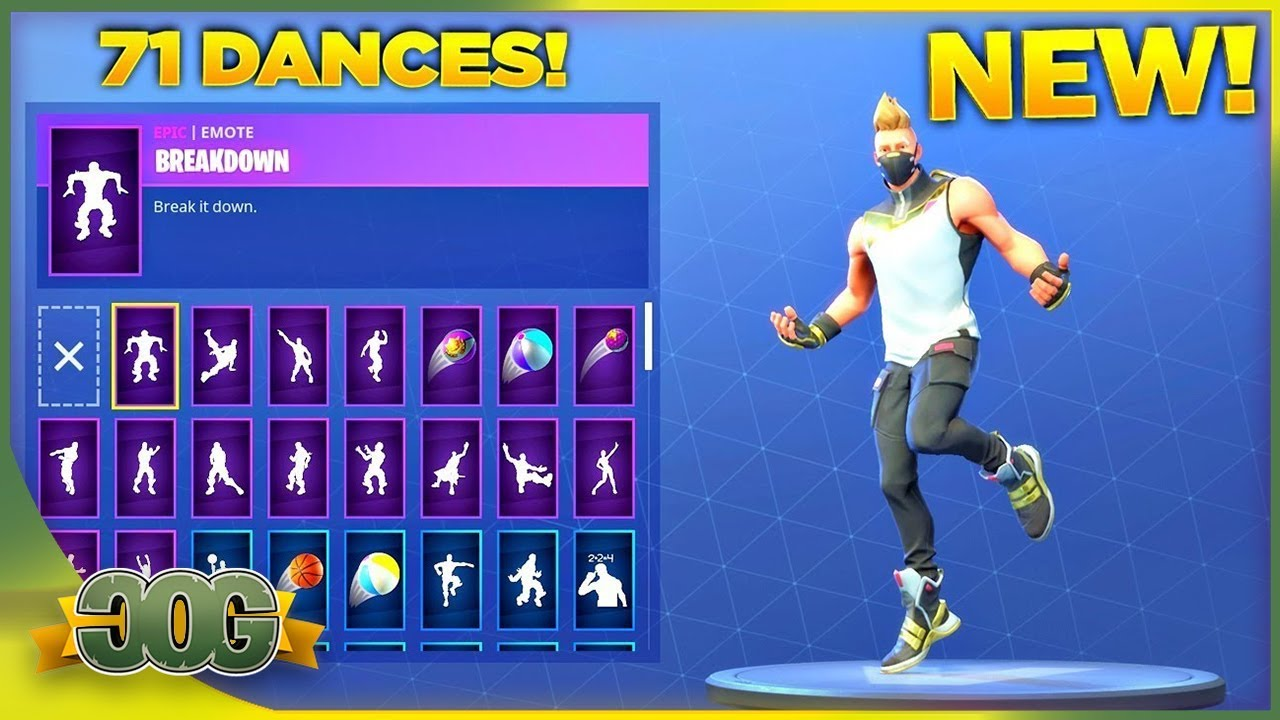 new drift skin showcase with all 71 fortnite dances emotes fortnite season 5 skin - every fortnite emote