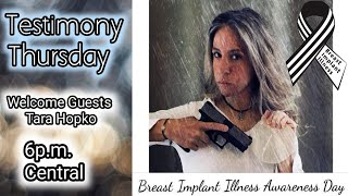"""Testimony Thursday Guest Announcement❣ TARA HOPKO Author of """"Let Me Get This Off My Chest"""""""