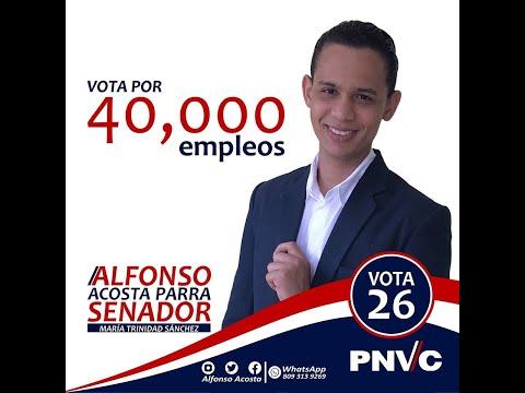 Video: Candidato a Senador por María Trinidad Sánchez implementará plan que generaría 40 mil empleos.