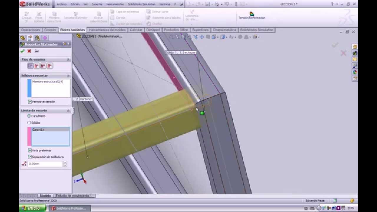 Solidworks -Diseño de una mesa de estructura metálica. - YouTube