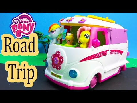 MLP Fash'ems Rainbow Dash Fluttershy Shopkins ROAD TRIP RV Camper My Little Pony Video Series Part 2
