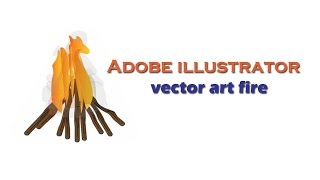 How to create a fire art in Adobe illustrator?