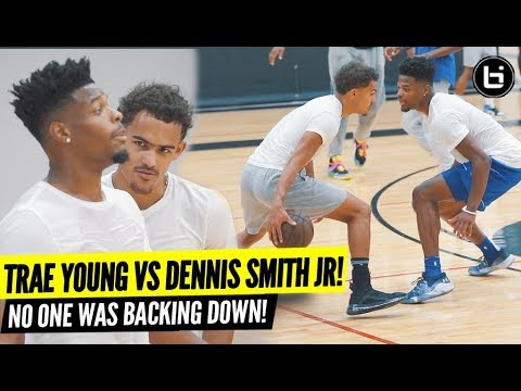 TRAE YOUNG VS DENNIS SMITH JR!! EPIC Open Run Turned Into Playground BATTLE!!