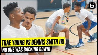 TRAE YOUNG VS DENNIS SMITH JR!! EPIC Open Run Turned Into Playgroud BATTLE!!