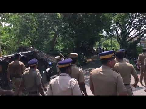 Police attack in kerala against asifa's issue