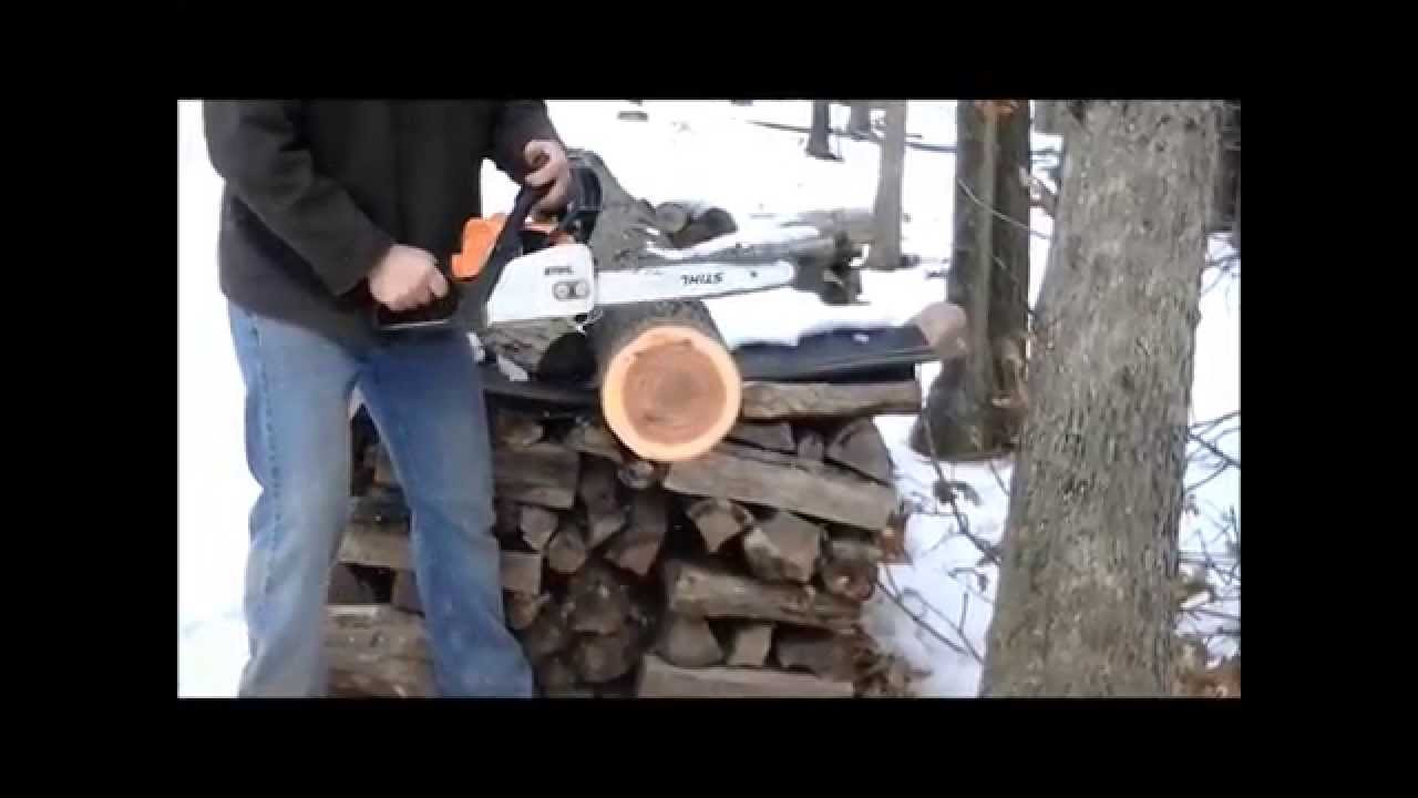 Stihl MS 170 Before and after Muffler Mod
