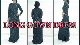 Long Gown Dress Cutting And Stitching | Designer Long Dress - Tailoring With Usha
