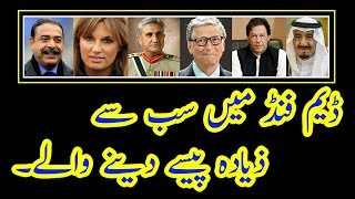 Top 10 Pakistani Donors For Daimer Bhasha and Mohmand Dams Fund 2018