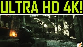Gears of War Ultimate Edition PC Windows 10 Gameplay - First 10 Minutes in Ultra HD 4K!
