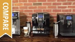 Compare: Delonghi PrimaDonna Exclusive, Jura Impressa Z9 and Jura J95