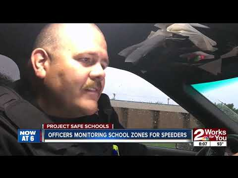 Safe Schools Officers Monitoring School Zones For Speeders Youtube
