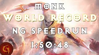 Diablo 3 Monk Any% NG World Record Speedrun 1:50:48