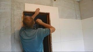Укладка стильной плитки в ванной ч.15(В этом видео показано как облицевать ту стену плиткой,в которой находится дверной проем и ведется разговор..., 2014-07-09T20:47:37.000Z)