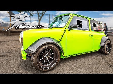 He put a HAYABUSA Motor in his MINI - It's SICK!
