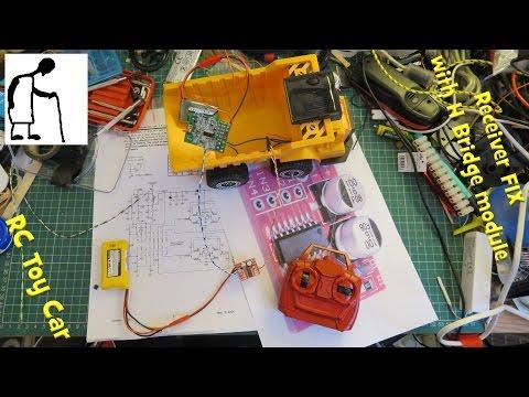 Broken RC Toy Car Receiver FIX With H Bridge Module