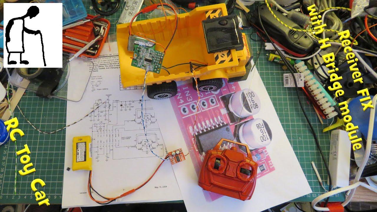 Broken Rc Toy Car Receiver Fix With H Bridge Module Youtube Circuit Wiring