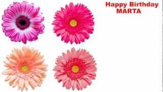 Marta - flowers - Happy Birthday
