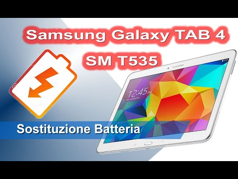 Samsung Galaxy TAB 4 T535 sostituzione batteria - Battery replacement
