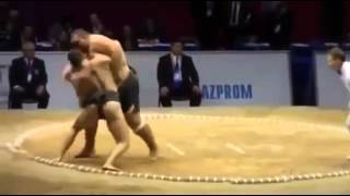 "Skinny Sumo Wrestler Slams Fat Sumo Wrestler       "" Rikishi """
