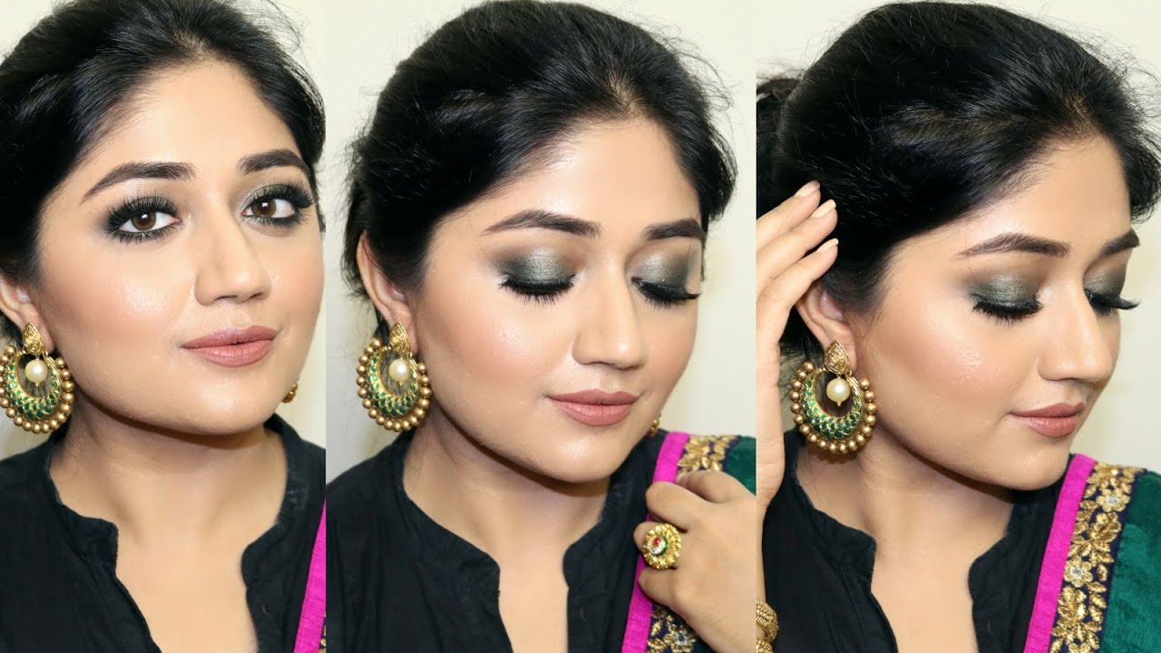 Indian Festive Makeup Tutorial Smoky Green Eyes Clista You